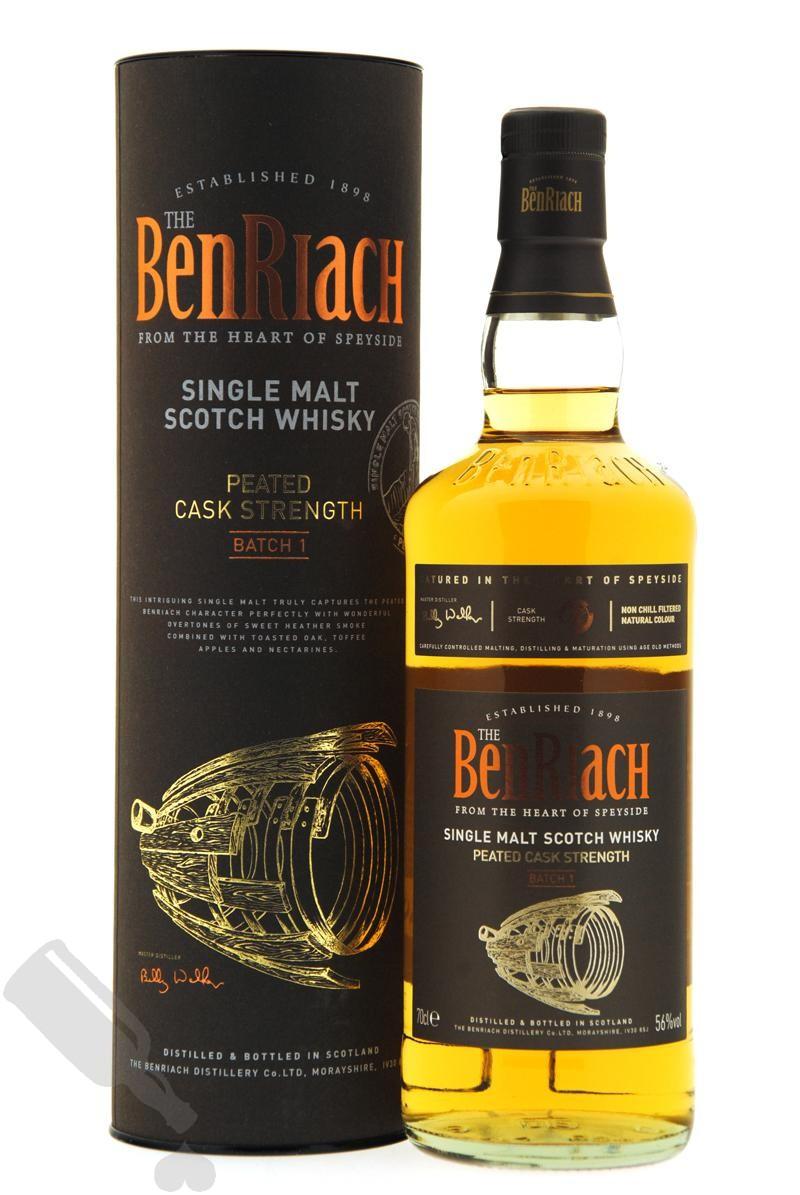 BenRiach Peated Cask Strength Batch 1