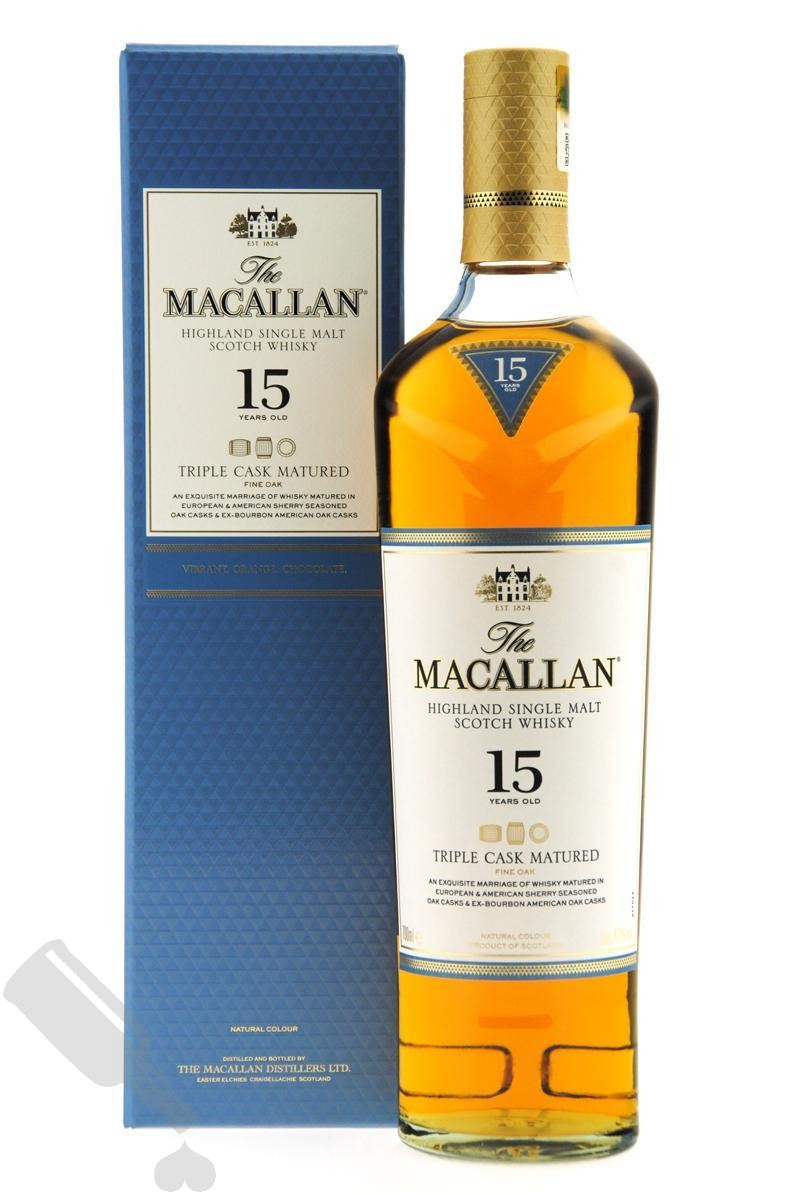Macallan 15 years Triple Cask Matured