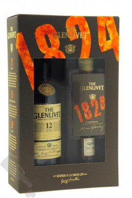 Glenlivet 12 years including two 5cl bottles - Old Bottling in Giftpack