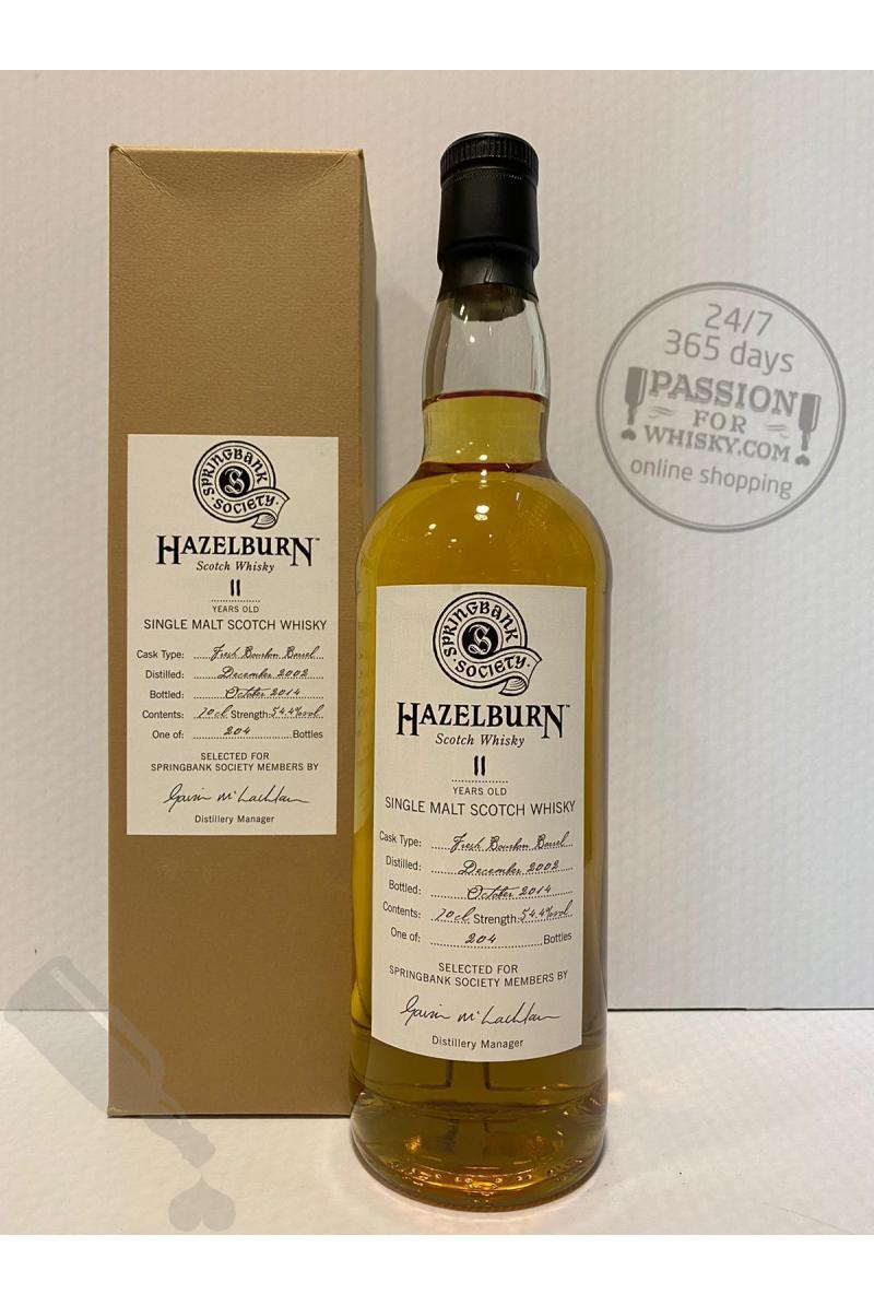 Hazelburn 11 years 2002 - 2014 Society Bottling