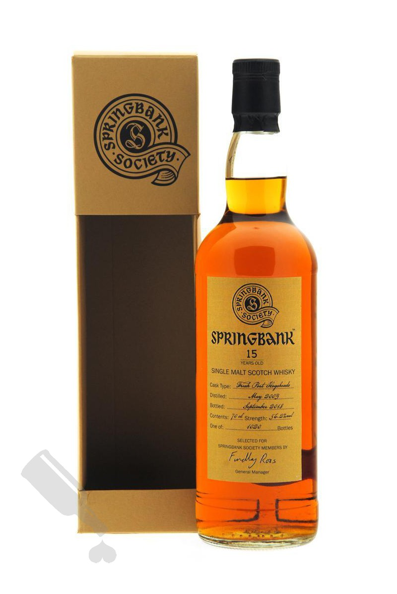 Springbank 15 years 2003 - 2018 Society Bottling