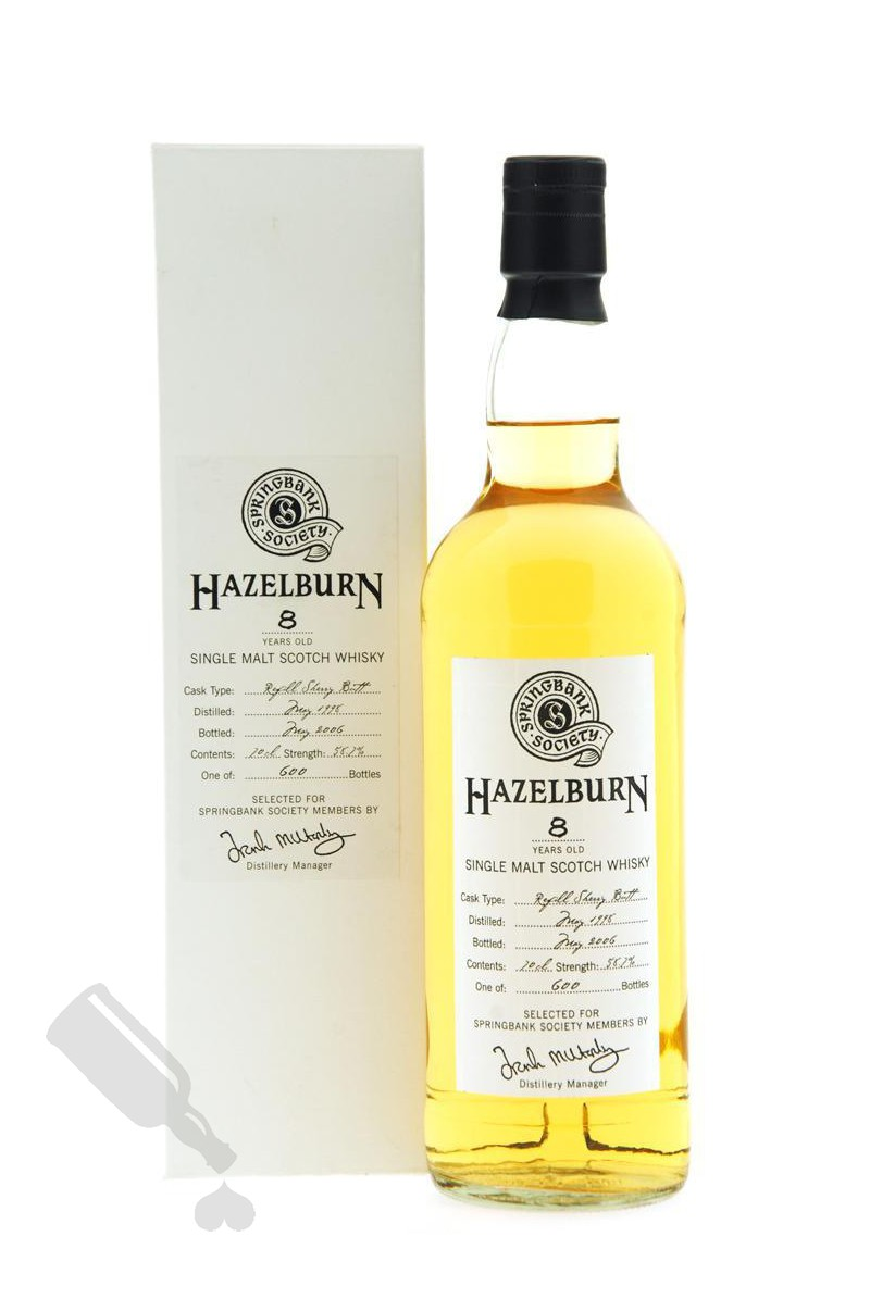Hazelburn 8 years 1998 - 2006 Society Bottling