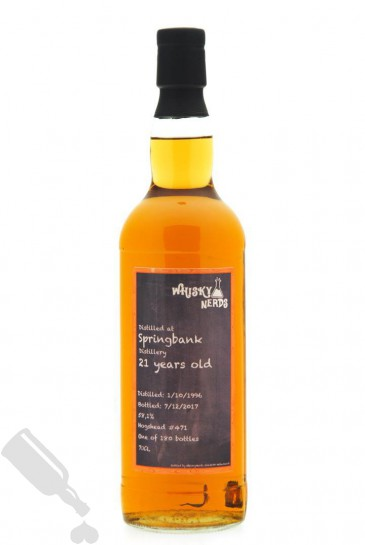 Springbank 21 years 1996 - 2017 #471 by WhiskyNerds