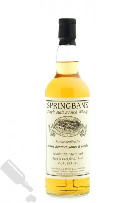 Springbank 21 years 1993 #1993-41 Private Bottling