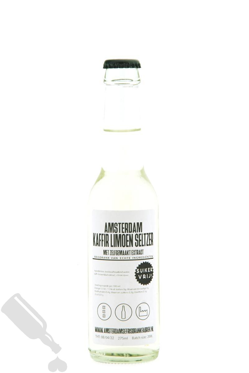 Amsterdam Kaffir Limoen Seltzer met zelfgemaakt extract 27.5cl