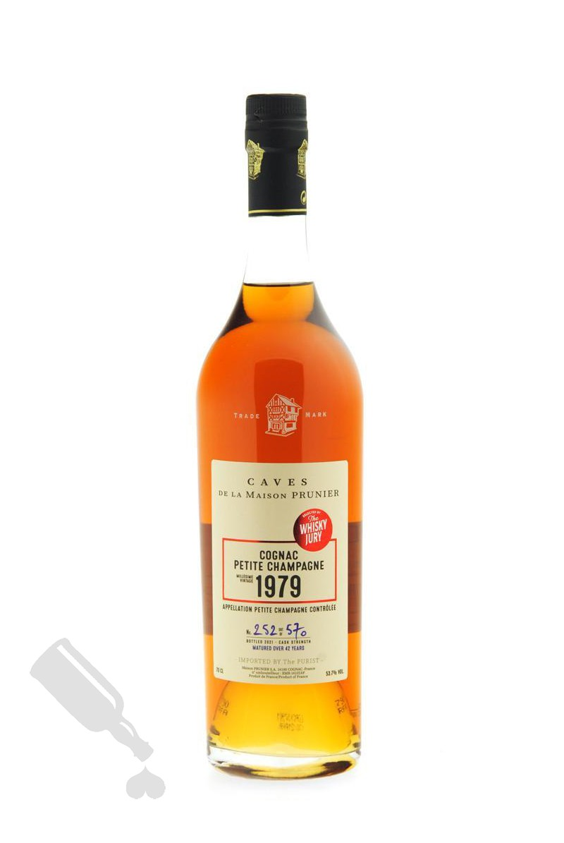 Prunier Vintage 1979 Petite Champagne for The Whisky Jury